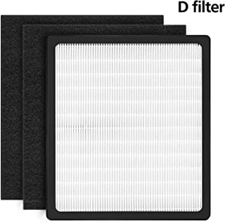 isinlive Idylis D Replacement Filters for IAF-H-100D AC-2118 AC-2123 IAP-10-280 IAP10280 Idylis Air Purifiers D Type Includes 1 HEPA Filter & 2 Carbon Filters
