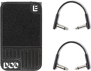 DOD Mini Expression Pedal w/RockBoard Flat Patch Cables Bundle