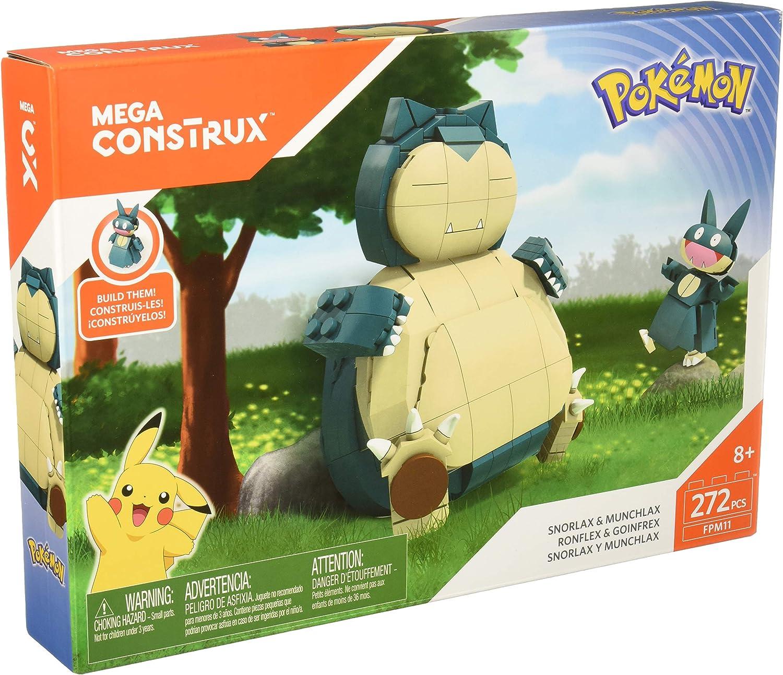 Mega Construx Pokemon Snorlax Munchlax 272 Piece Piece Piece