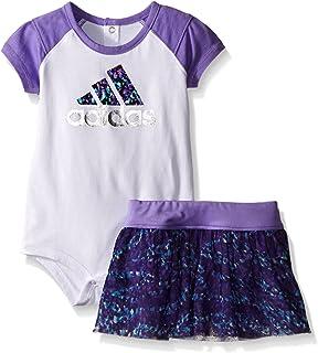 adidas Baby Girls' Bodysuit and Short Set