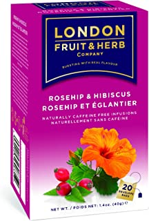 London Fruit & Herb Té Rosa Mosqueta y Jamaica, 20 sobres