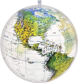 Jet Creations Globe 16 اینچ جهان ، نقشه برجسته برجسته توپوگرافی با مرزهای سیاسی ، هزاران نام چاپ شده از نام کشورها و شهرها ، نقشه برداری به روز ، GTO-16TTR