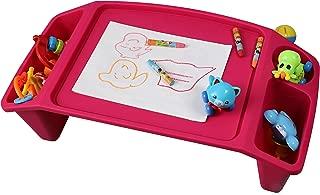 QI003253P Kids Lap Desk Tray, Portable Activity Table, Pink