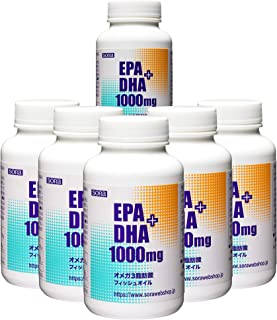 【6本セット?10% OFF】そら EPA+DHA 1000mg (魚のオイル オメガ3 180粒入)【リニューアル品】