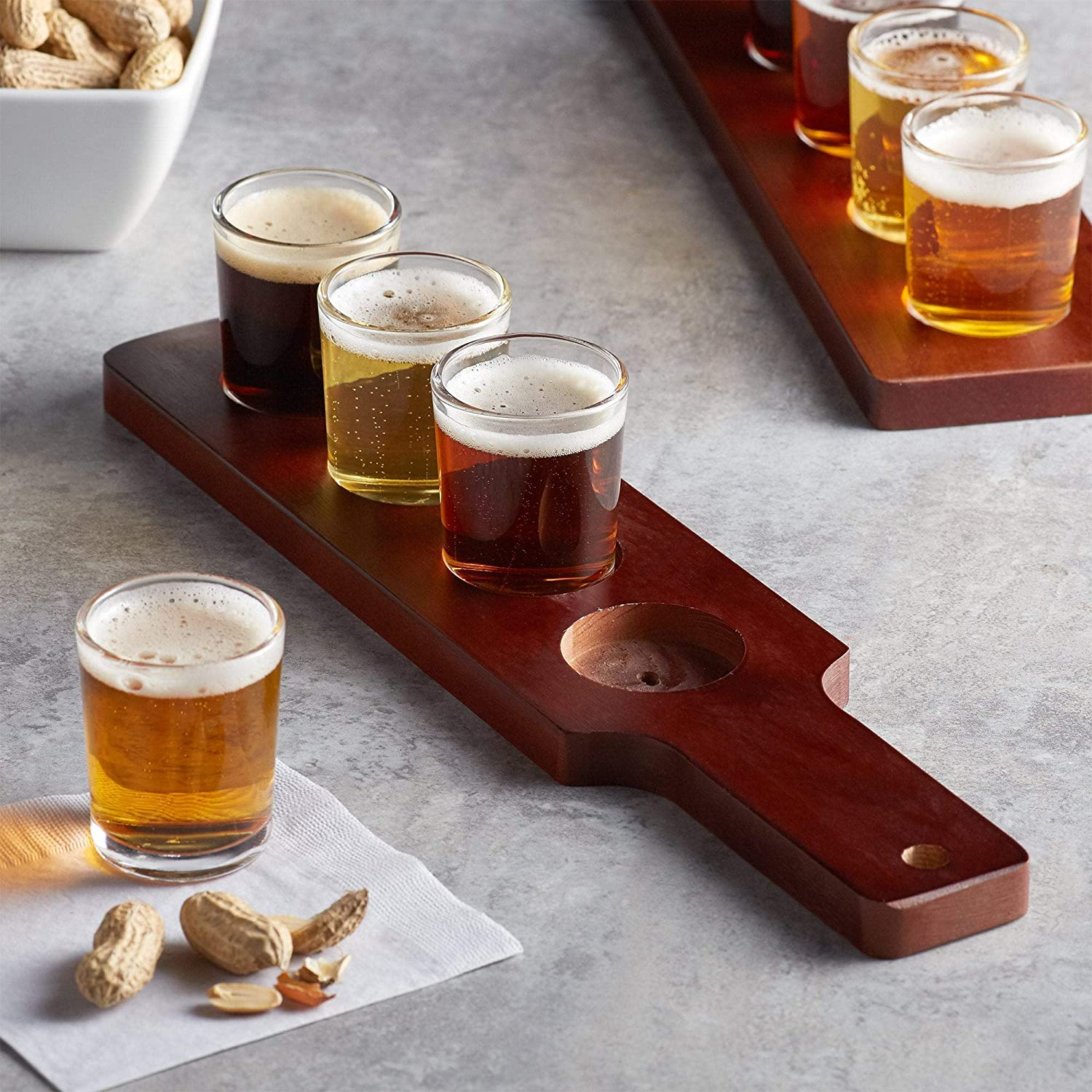 Beer Tasting 倉 Tray Flight with Choice 4 of Glasses お買い得品 6 or