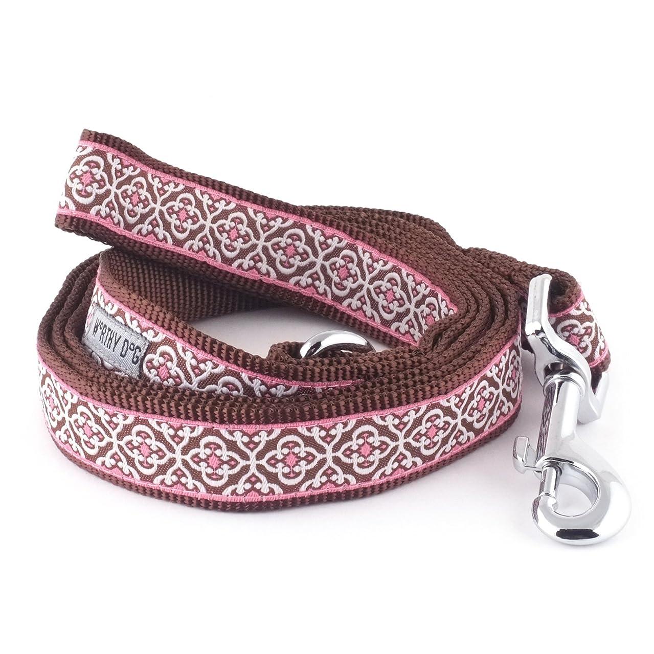 The Worthy Dog   Knightsbridge Pink Lead  Designer Pet Dog Leash , Pink, 1