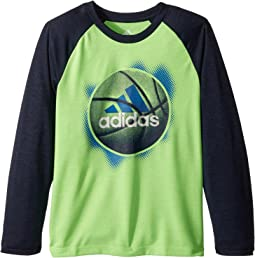 adidas Kids - Logo Sport Ball Tee (Little Kids)