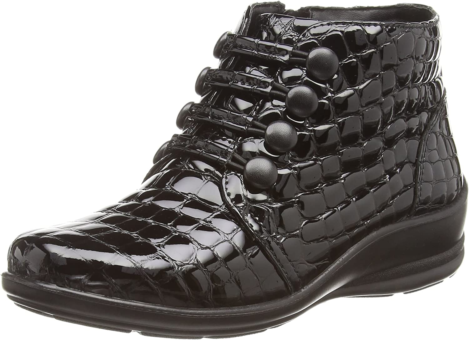 PADDERS Women's Tanya Leather Tie Ankle Boot