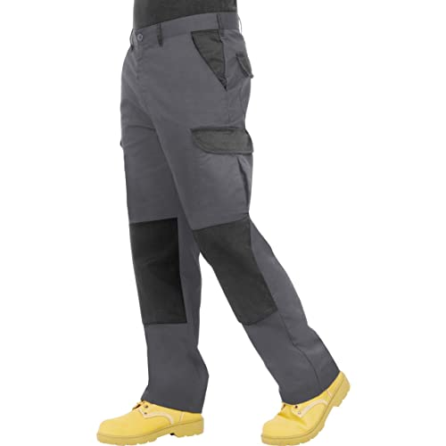755ef4743c3 Endurance Mens Cargo Combat Work Trouser with Knee Pad Pockets and  Reinforced Seams - Available in