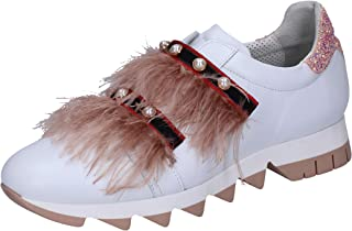 Jeannot Loafer Flats Womens Leather White