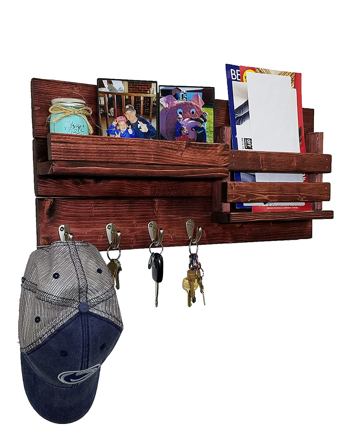 Max 88% OFF Classic Max 58% OFF Farmhouse Rustic Mail Organizer N Customizable Featuring