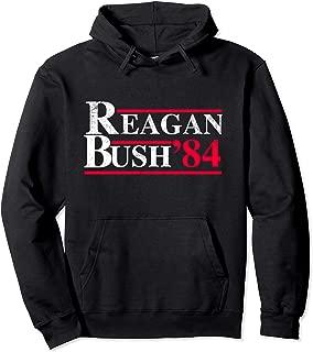 Ronald Reagan George Bush 84 1984 Republican Campaign Pullover Hoodie