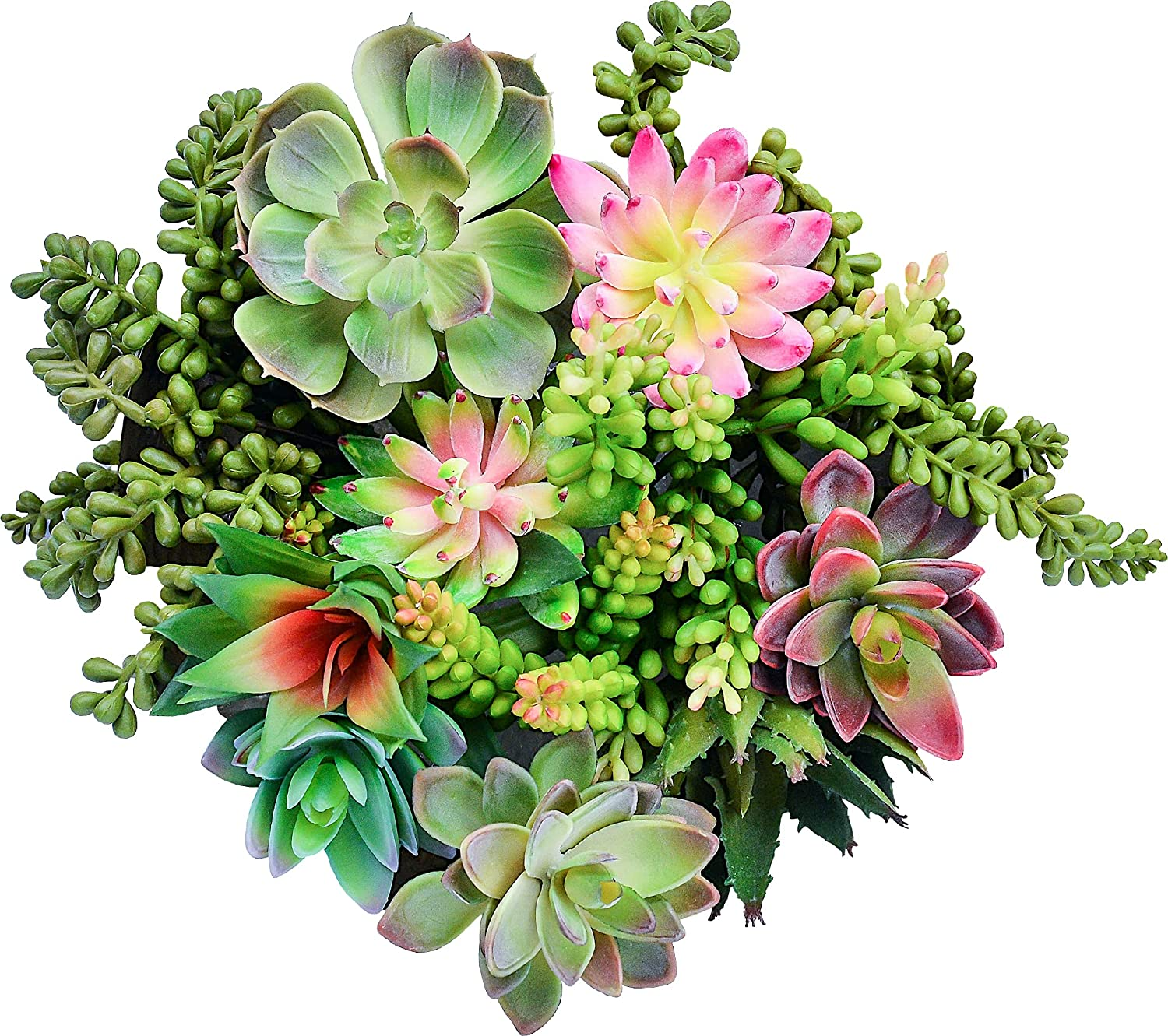 Artificial Succulents Plants-14 Pack Fake Succulents-Unpotted Faux Succulent Stems Bulk-Assorted Realistic Large Plastic Plants Set-Cactus Hanging Silk Plant for Wall Home Decor Crafts by NiftyPetal