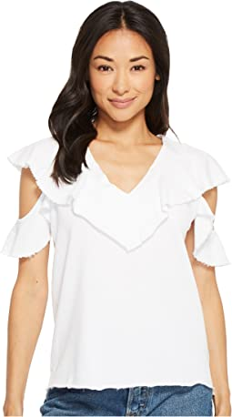 Lanston - Cold Shoulder Ruffle Tee