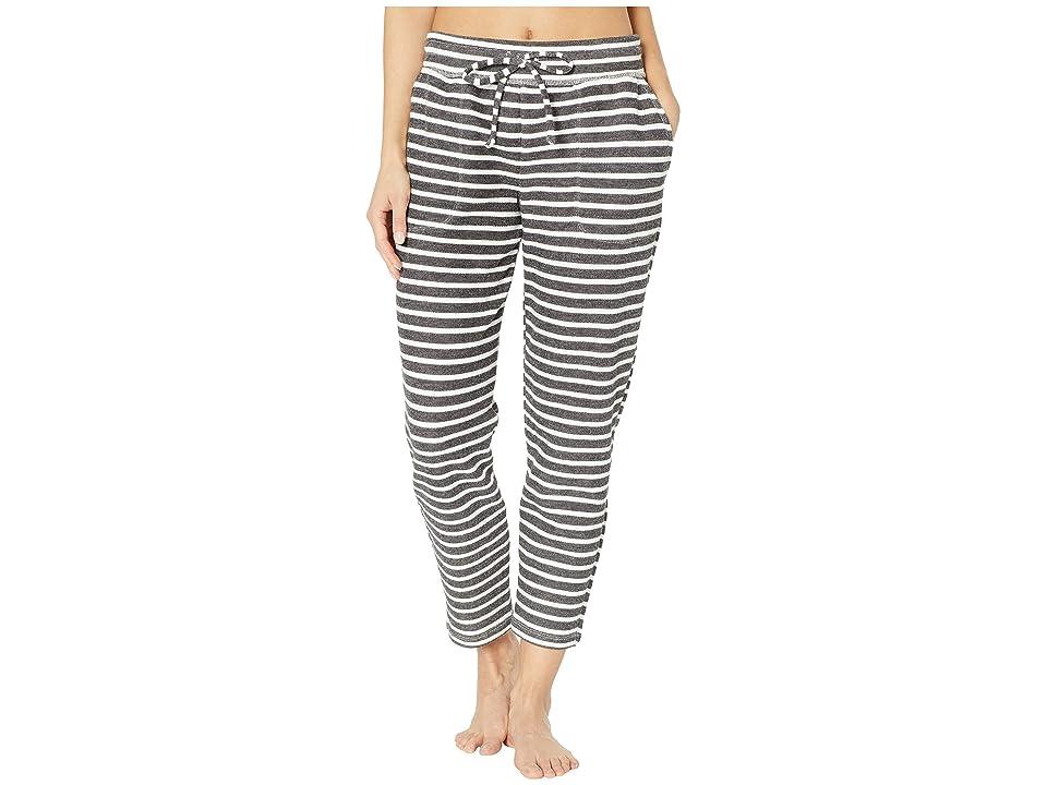 Beyond Yoga Live Out Loud Cropped Sweatpants (Black/White) Women