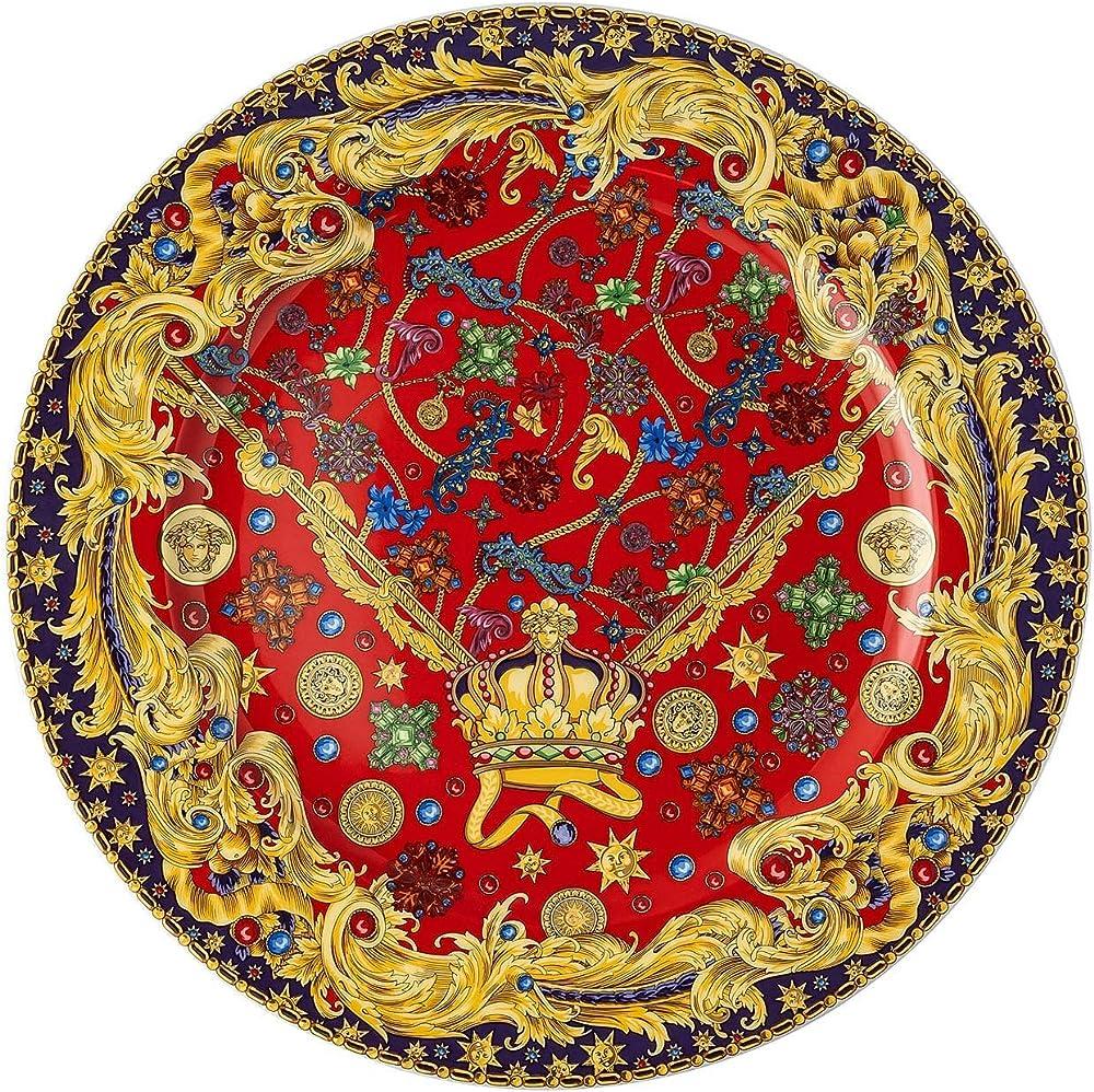 Versace,rosenthal, piatto cm 30 barocco holiday,piatto di natale 19305-409948-20021