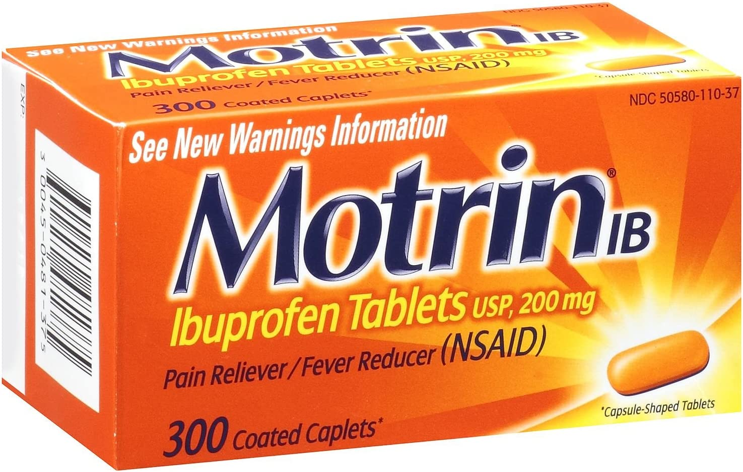 For relief of aches and pains - Motrin IB (Ibuprofen) Pain Relie