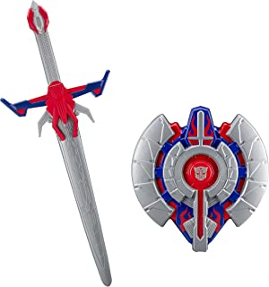 Transformers Optimus Prime The Last Knight Hasbro Movie Sword with Awesome Battle Sound Effects and Shield Battle Pack Ready to Defeat Megatron and His Decepticons