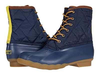 Sperry Saltwater Duck Nylon Boot (Navy) Shoes