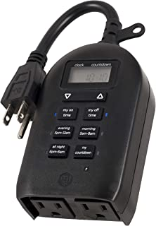 myTouchSmart 26898-P1 Indoor and Outdoor Digital Timer, Plug-in, Two Grounded, Weather..