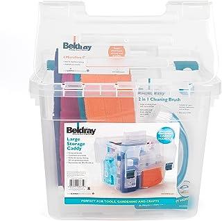 Beldray LA036759EU Panier ménage avec Couvercle LA036759 DIY, Loisir, Grand, Transparent, Plastique
