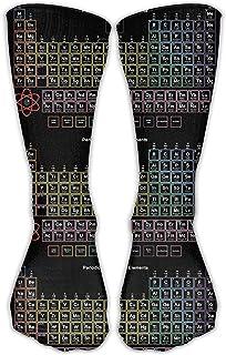 黒の周期表の要素ユニセックスノベルティクルーソックス足首のドレスソックスフィット靴50センチ(19.6インチ)