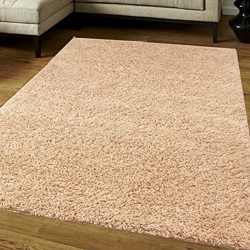 Think-Louder Luxury Shaggy Rug Runner Non Shed Carpet Thick & Soft in With Non
