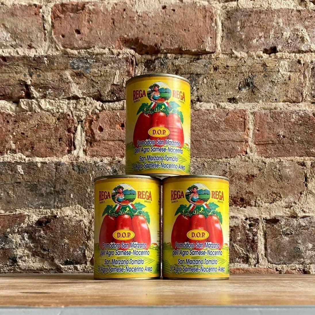 Rega National uniform free shipping Ranking TOP16 San Marzano DOP Authentic Origi Peeled Whole Tomatoes Plum