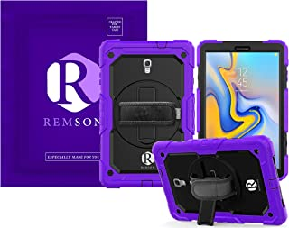 Samsung Galaxy Tab A 10.5 T590 2018 Remson Full Body Rugged Shockproof Drop Protection with 360 Rotating Kickstand/Shoulde...