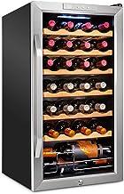 Ivation 28 Bottle Compressor Wine Cooler Refrigerator w/Lock | Large Freestanding Wine Cellar For Red