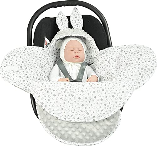 EliMeli Couverture universelle pour bébé – Pour nacelle, siège auto, poussette, landau, lit de bébé – Très haute qual...