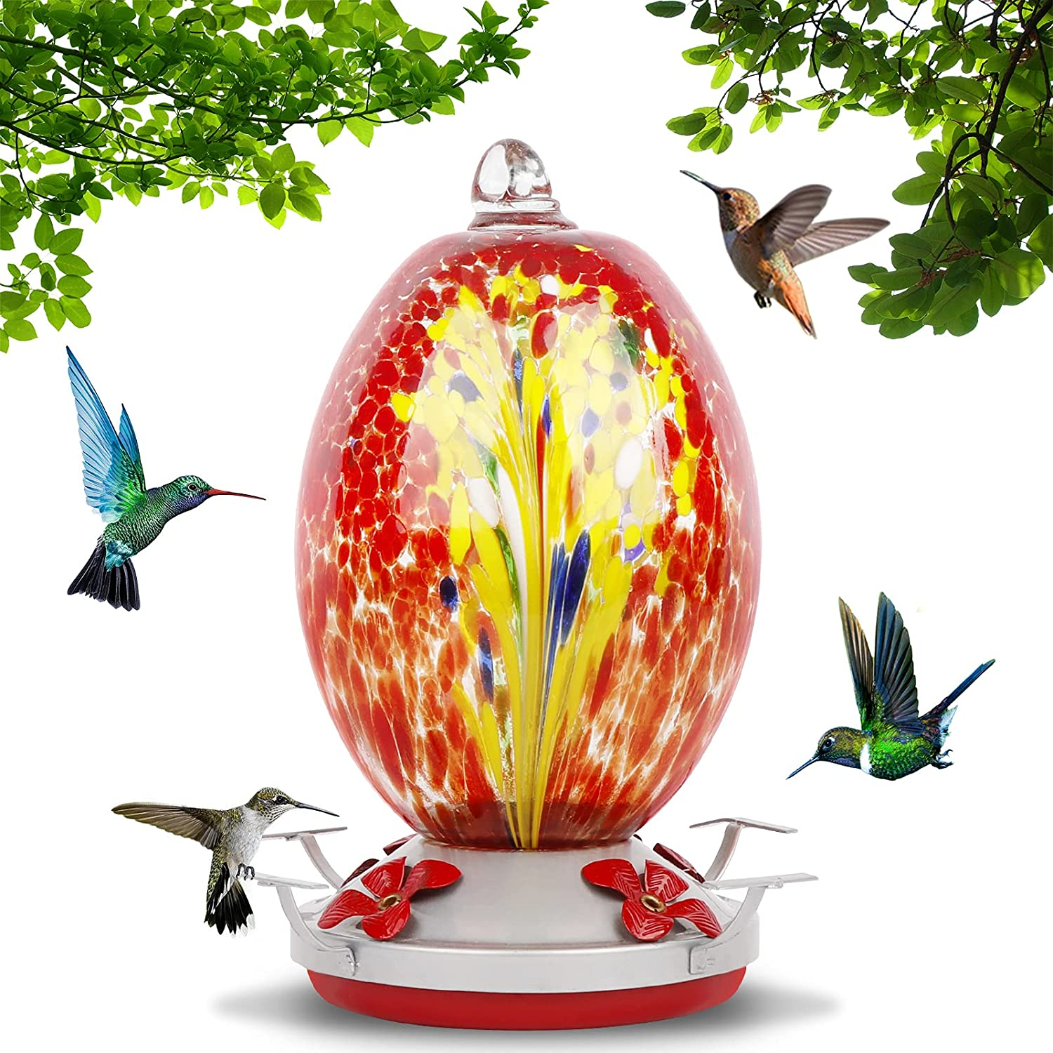AerWo Hummingbird Feeders for Colorado Springs Mall Leak-Proof Rust-Proof Spring new work one after another Outdoors