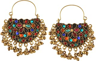 afghani chandbali earrings
