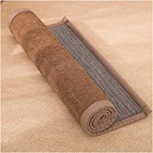 Bamboo Floor Mats, Living Room Bedroom Coffee Table Porch Natural Sisal Rug Carpet, Non-slip Floor Mat Foot Pads, 1cm Thic...