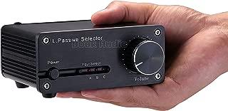Nobsound HiFi Selector; Mini Passive Pre-Amplifier; 3-IN 2-OUT Audio Preamp; Adjustable Volume Controller (RCA & VOL Control)