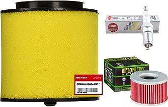 Tune Up Kit OEM Air Filter Oil Filter Spark Plug for Honda Foreman Rubicon 500 TRX500