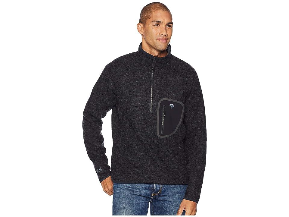 Mountain Hardwear Hatchertm 1/2 Zip Pullover (Black) Men