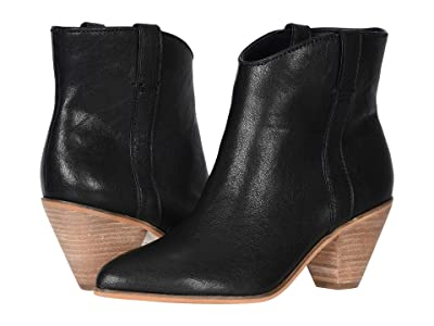 FRYE AND CO. Maley Pull Tab (Black Tumbled Leather) Women