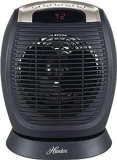 Hunter Digital Fan Heater with Oscillation, Black