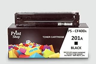 Recycled Color Laser Toner Cartridge HP 201 (CF400A) For Use in : Hp Color Laserjet Pro M252, MFP M274n, M277dw/n.