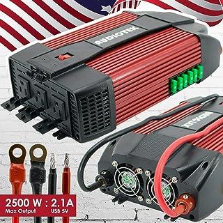 Audiotek 2500 W W W inversor de Corriente DC 12 V AC 110 V convertidor de Coche USB Puerto Cargador