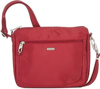 Travelon Anti-Theft Classic Small E/w Crossbody Bag (Cranberry/Coral Lining)