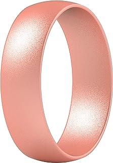 حلقات من السيليكون من ثاندرفيت ، 7 خواتم / خاتم واحد لحفلات الزفاف للرجال والنساء عرض 6 مم - سمك 1.65 مم
