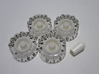 (MADE IN JAPAN)High Quality Speed Custom Knob,Embossed,White,metric,Set