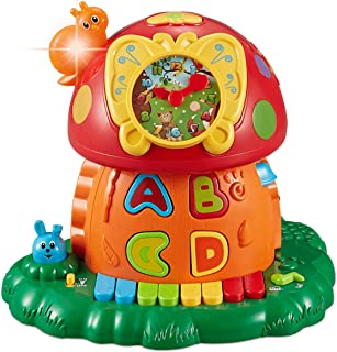 Think Gizmos Musical Learning Toy for Toddlers - Interactive Mushroom House TG727 - Educational Gift for Boys & Girls Aged 1 2 3 4 Years +