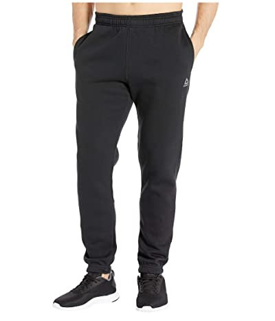 Reebok Training Essentials Fleece Closed Cuff Pants (Black) Men