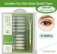 200 pairs Natural invisible One Side Eyelid Tape Stickers Waterproof Breathable Self-Adhesive Eyelid Lift Strip, Instant Eye Lift Without Surgery, Perfect for Uneven Droopy Hooded eyelids