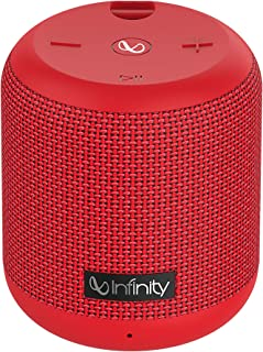 Infinity (JBL) Fuze 100 Deep Bass Dual Equalizer IPX7 Waterproof Portable Wireless Speaker (Passion Red)