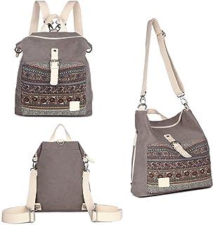 025c405e8e Womens Backpack Purse 3-way Ladies Vintage Shoulder Bag Casual Canvas Travel  Daypack