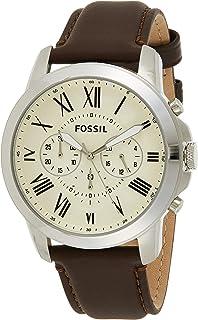 Fossil Reloj Cronógrafo para Hombre de Cuarzo con Correa en Cuero FG1811810